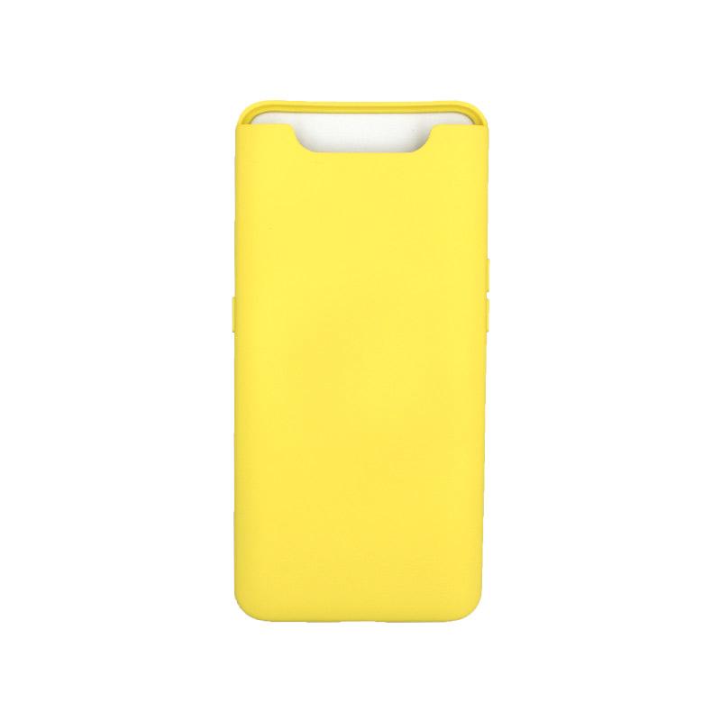Θήκη Samsung Galaxy A80 / A90 Silky and Soft Touch Silicone κίτρινο 1