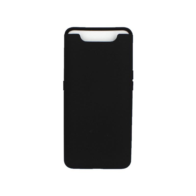 Θήκη Samsung Galaxy A80 / A90 Silky and Soft Touch Silicone μαύρο 1