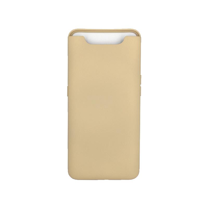 Θήκη Samsung Galaxy A80 / A90 Silky and Soft Touch Silicone μπεζ 1