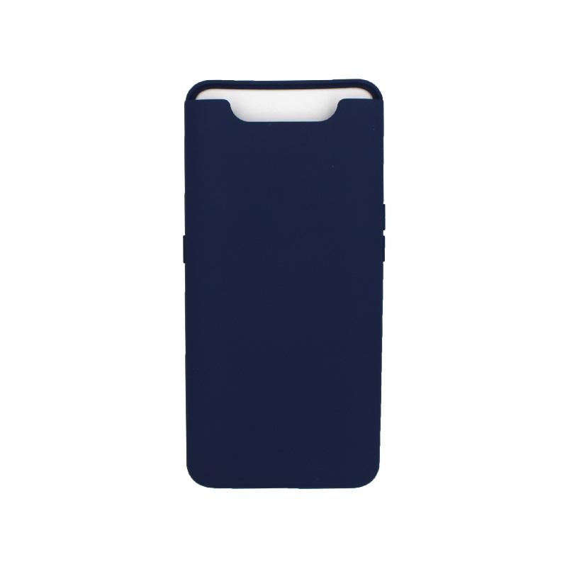 Θήκη Samsung Galaxy A80 / A90 Silky and Soft Touch Silicone σκούρο μπλε 1