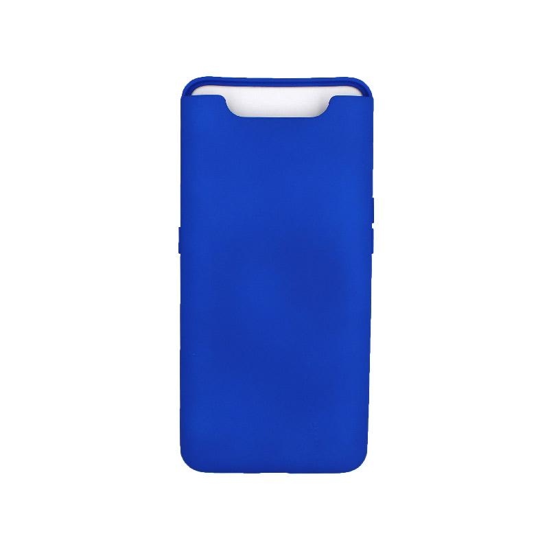 Θήκη Samsung Galaxy A80 / A90 Silky and Soft Touch Silicone μπλε 1