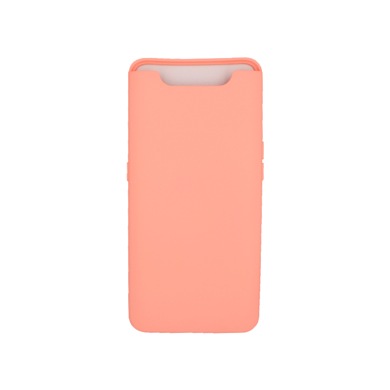 Θήκη Samsung Galaxy A80 / A90 Silky and Soft Touch Silicone πορτοκαλί 1
