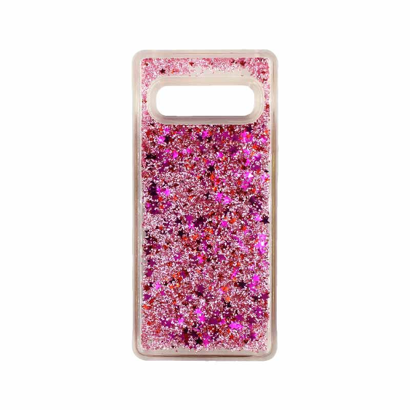 Θήκη Samsung Galaxy S10 Liquid Glitter απαλό ροζ 1