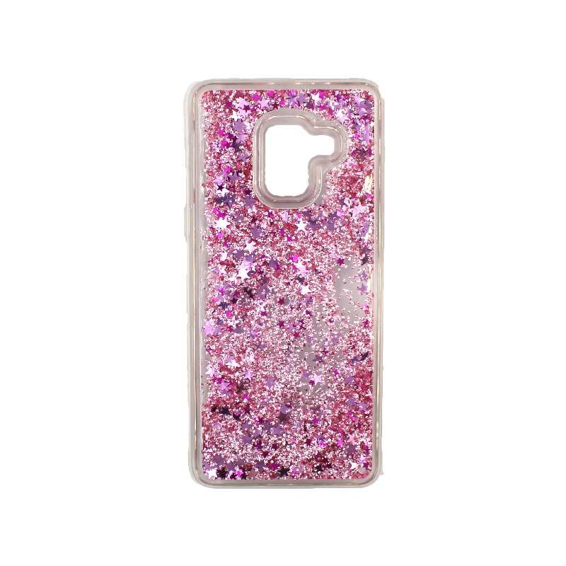 Θήκη Samsung Galaxy J6 Liquid Glitter απαλό ροζ 1