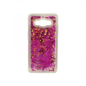 Θήκη Samsung Galaxy J7 2016 Liquid Glitter φούξια 1