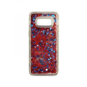 Θήκη Samsung Galaxy S8 Liquid Glitter κόκκινο 1
