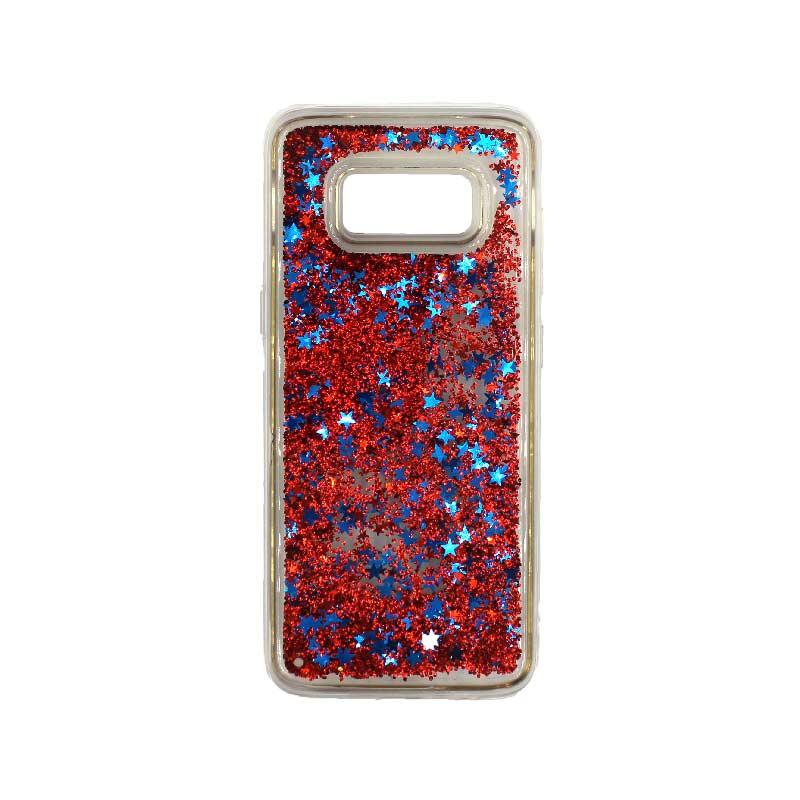Θήκη Samsung Galaxy S8 Plus Liquid Glitter κόκκινο 1