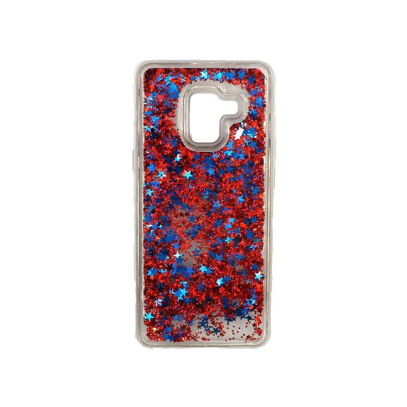 Θήκη Samsung Galaxy J6 Liquid Glitter απαλό κόκκινο 1