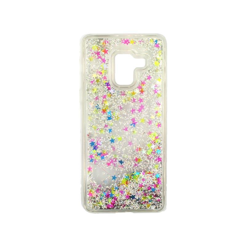 Θήκη Samsung Galaxy J6 Liquid Glitter απαλό πολύχρωμο 1