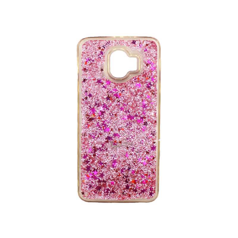 Θήκη Samsung Galaxy J2 Pro Liquid Glitter απαλό ροζ 1