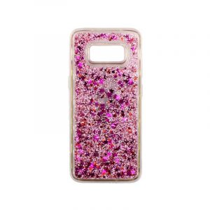Θήκη Samsung Galaxy S8 Plus Liquid Glitter απαλό ροζ 1