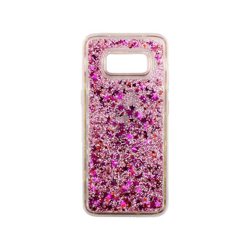 Θήκη Samsung Galaxy S8 Plus Liquid Glitter απαλό ροζ 1