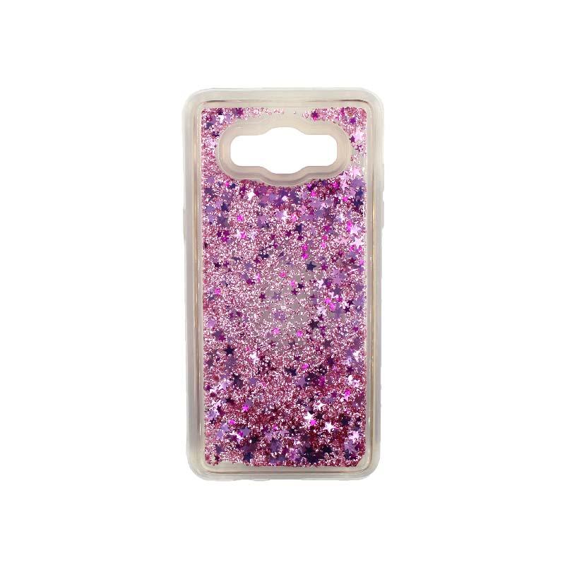 Θήκη Samsung Galaxy J5 2016 Liquid Glitter απαλό ροζ 1