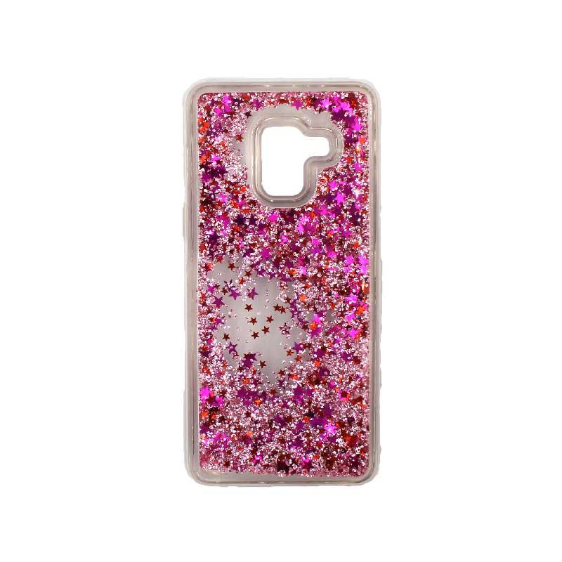 Θήκη Samsung Galaxy J6 Liquid Glitter ροζ 1