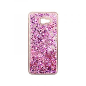 Θήκη Samsung Galaxy J4 Plus Liquid Glitter απαλό ροζ 1