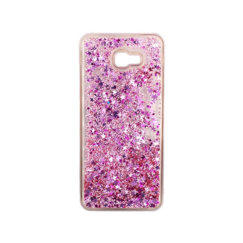 Θήκη Samsung Galaxy J4 Plus Liquid Glitter απαλό ροζ 1