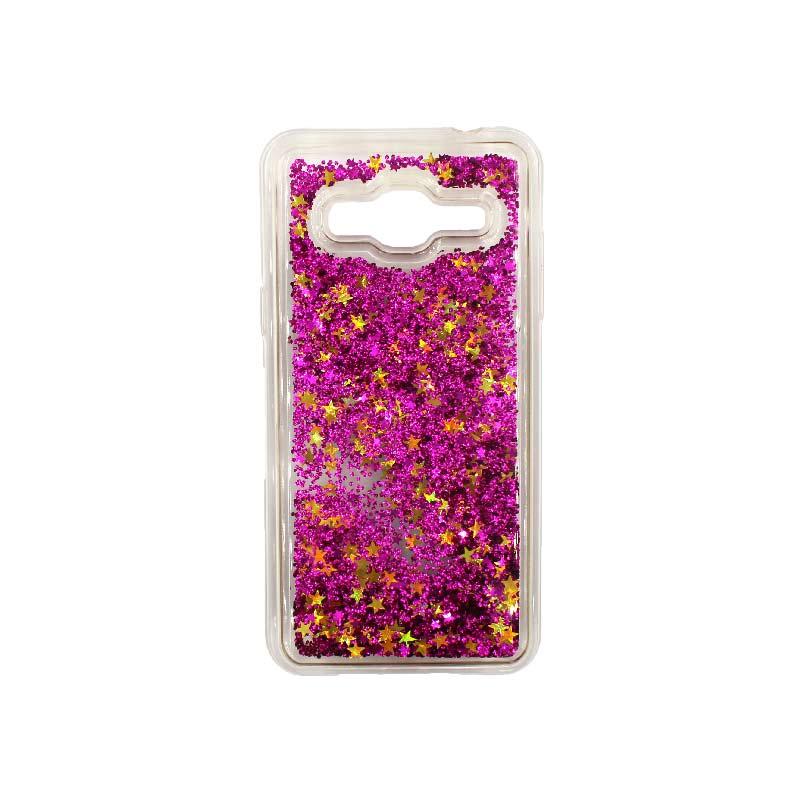 Θήκη Samsung Galaxy J3 2016 Liquid Glitter φουξ 1