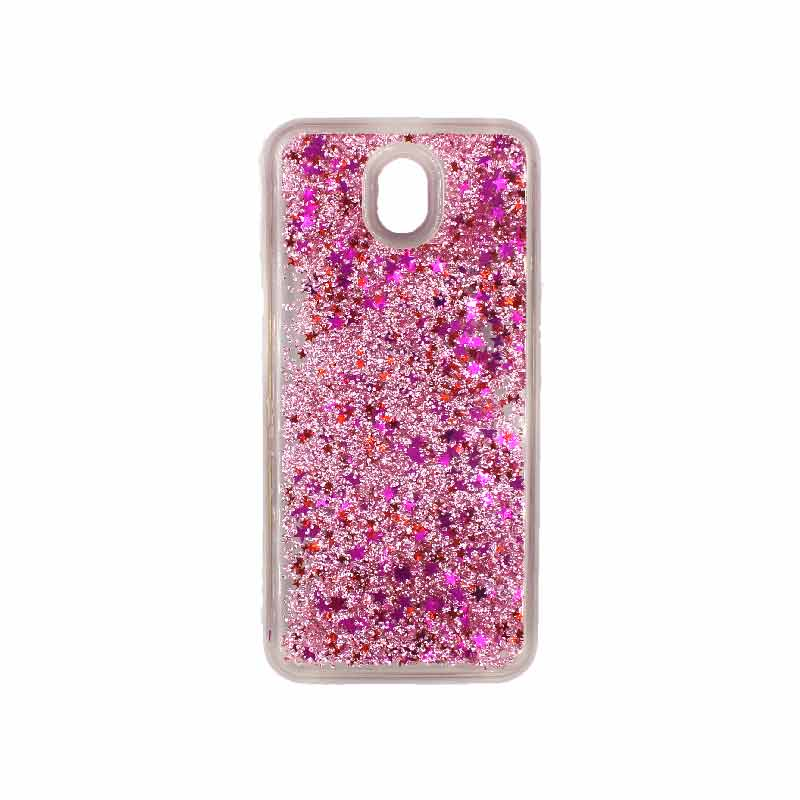 Θήκη Samsung Galaxy J3 2017 Liquid Glitter ροζ 1