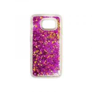 Θήκη Samsung Galaxy S6 Liquid Glitter φουξ 1