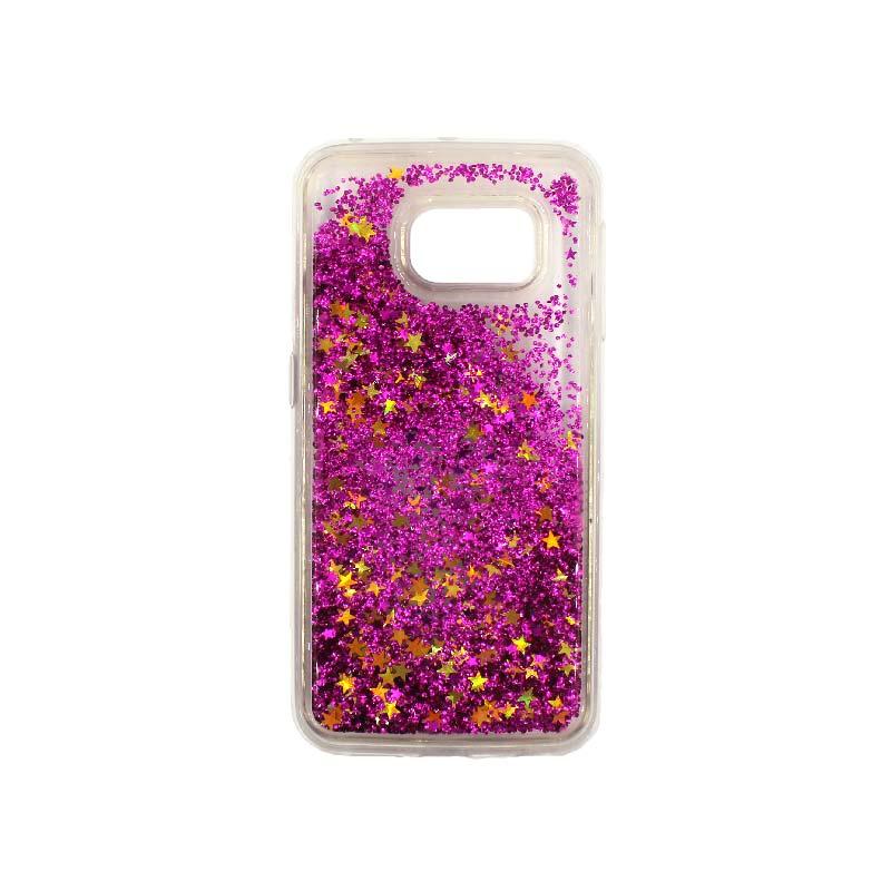 Θήκη Samsung Galaxy S6 Edge Liquid Glitter φουξ 1