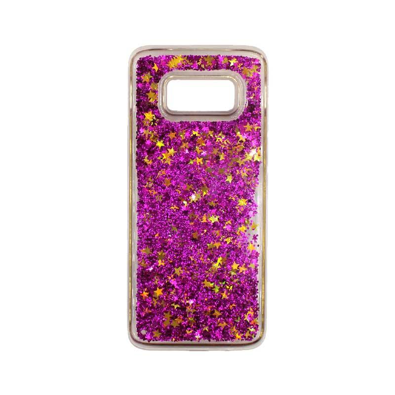 Θήκη Samsung Galaxy S8 Plus Liquid Glitter φουξ 1