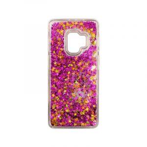 Θήκη Samsung Galaxy S9 Liquid Glitter φουξ 1