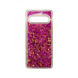 Θήκη Samsung Galaxy S10 Liquid Glitter φούξια 1
