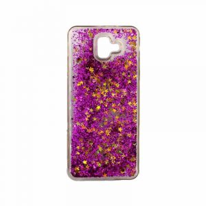 Θήκη Samsung Galaxy J6 Plus Liquid Glitter φούξια 1