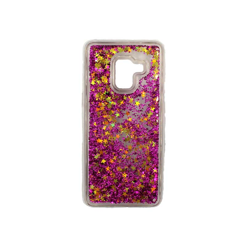 Θήκη Samsung Galaxy J6 Liquid Glitter φούξια 1