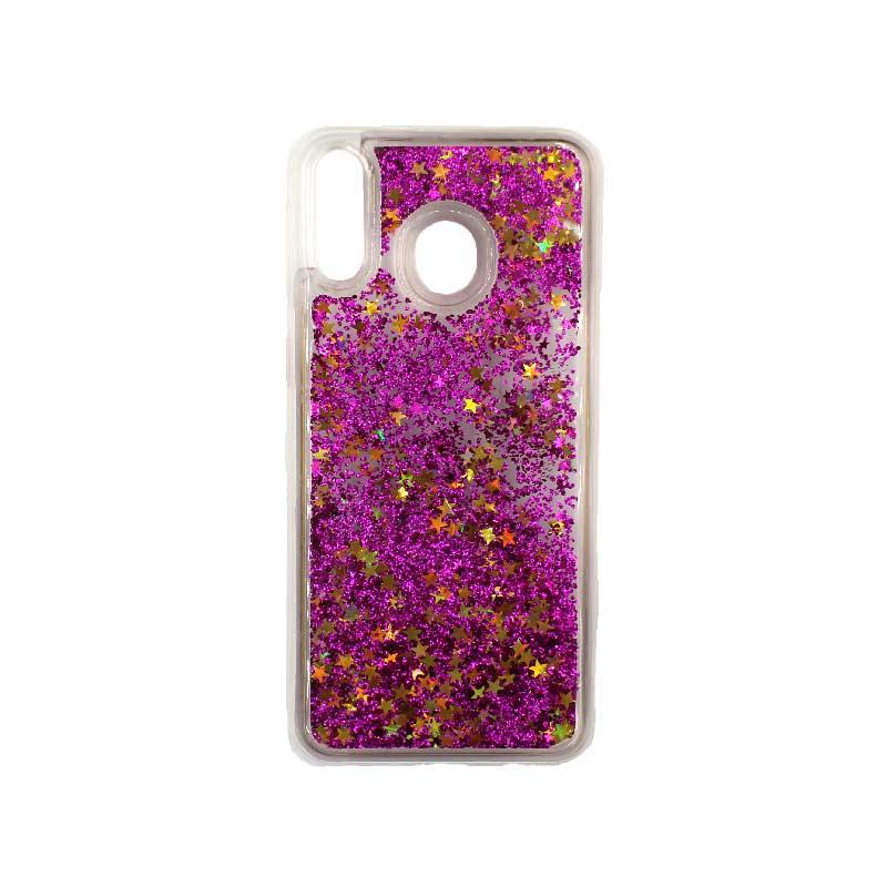 Θήκη Samsung Galaxy M20 Liquid Glitter φουξ 1