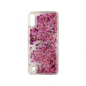 Samsung Galaxy A10 / M10 Liquid Glitter φούξια 1