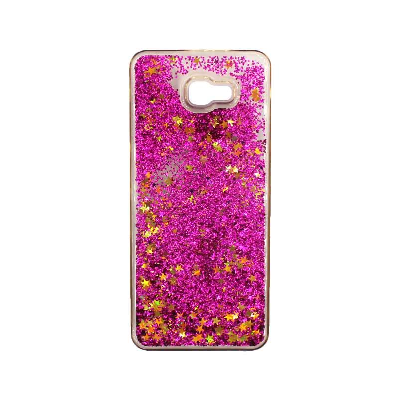 Θήκη Samsung Galaxy J4 Plus Liquid Glitter φουξ 1