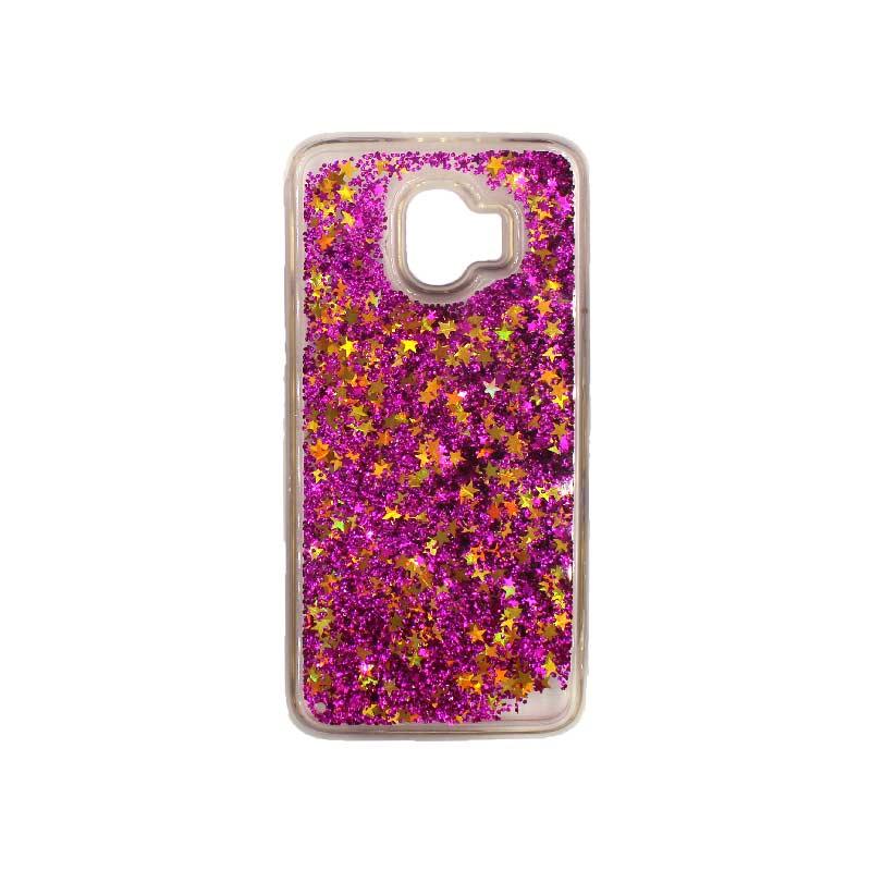 Θήκη Samsung Galaxy J2 Pro Liquid Glitter φουξ 1