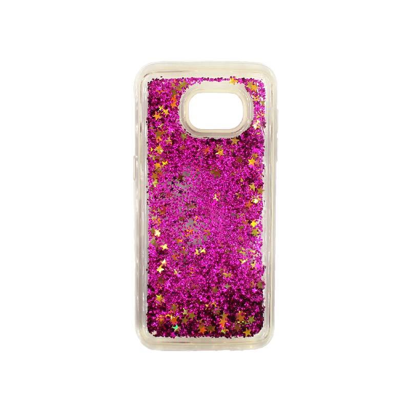 Θήκη Samsung Galaxy S7 Edge Liquid Glitter φουξ 1