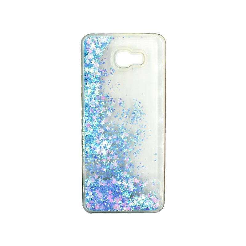 Θήκη Samsung Galaxy J4 Plus Liquid Glitter γαλάζιο 2