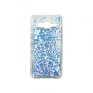 Θήκη Samsung Galaxy J3 2016 Liquid Glitter γαλάζιο 1