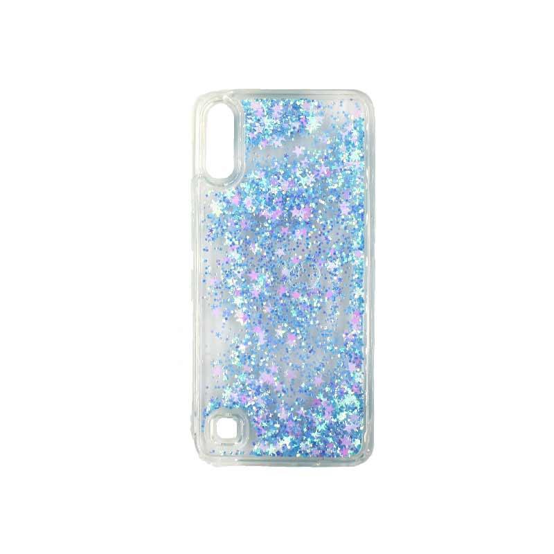Samsung Galaxy A10 / M10 Liquid Glitter γαλάζιο 1