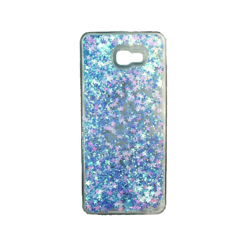 Θήκη Samsung Galaxy J4 Plus Liquid Glitter γαλάζιο 1