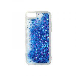 θήκη iphone 7 / 8 σιλικόνη glitter και αστεράκια μπλε 1