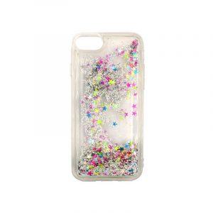 θήκη iphone 7 / 8 / SE σιλικόνη glitter και αστεράκια πολύχρωμο 1