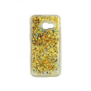 Θήκη Samsung Galaxy A5 2016 Liquid Glitter κίτρινο 1