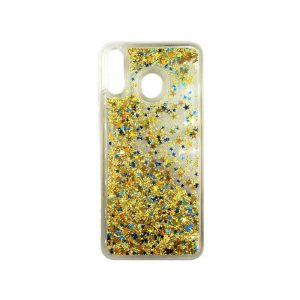 Θήκη Samsung Galaxy M20 Liquid Glitter κίτρινο 1