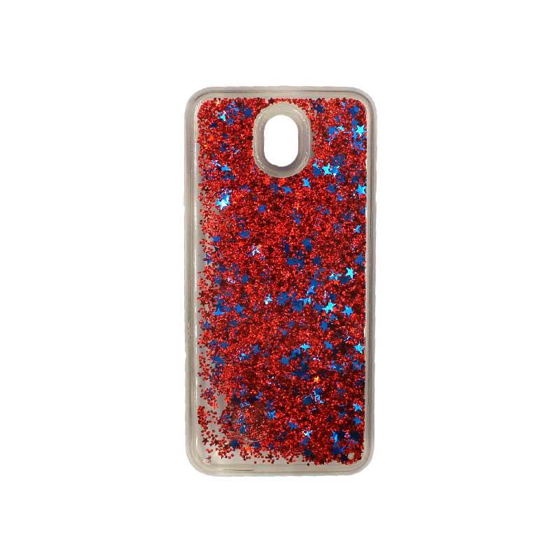 Θήκη Samsung Galaxy J3 2017 Liquid Glitter κόκκινο 1