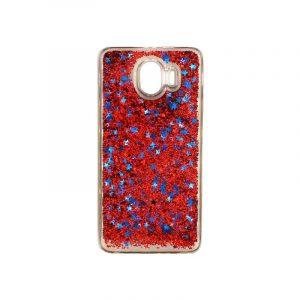 Θήκη Samsung Galaxy J4 Liquid Glitter κόκκινο 1