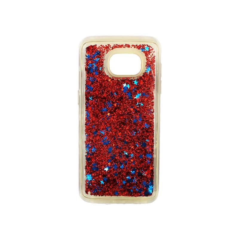 Θήκη Samsung Galaxy S7 Edge Liquid Glitter κόκκινο 1