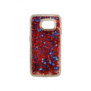 Θήκη Samsung Galaxy S6 Edge Liquid Glitter κόκκινο 1