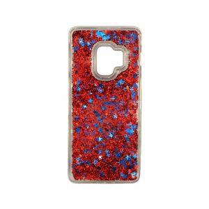 Θήκη Samsung Galaxy S9 Liquid Glitter κόκκινο 1