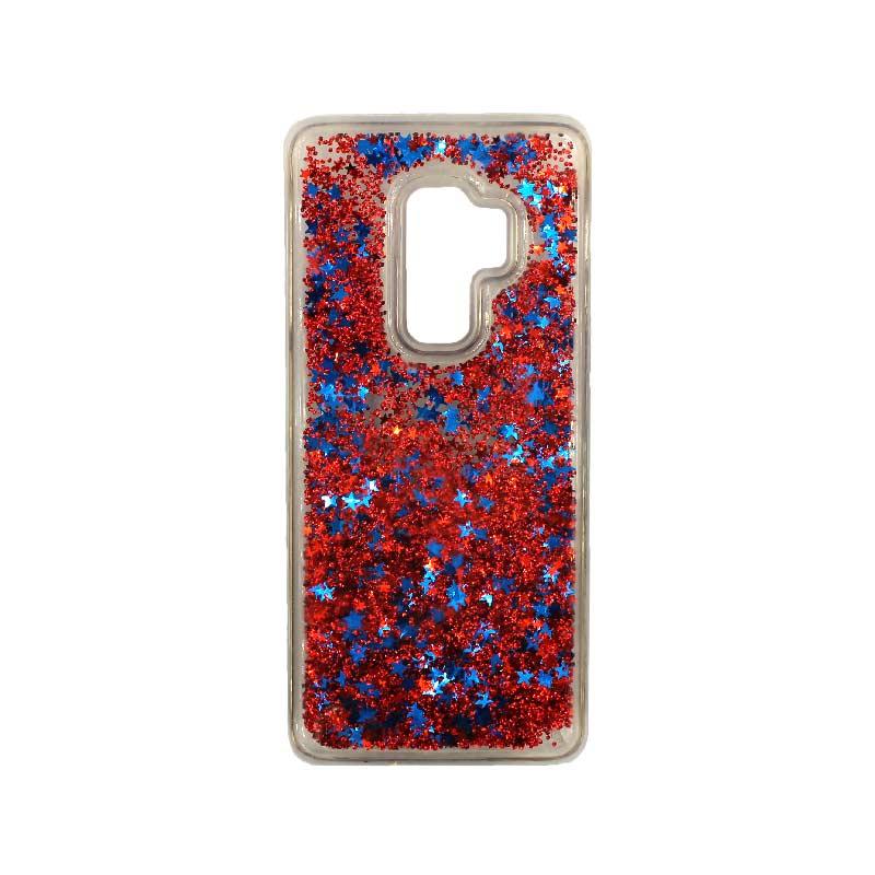 Θήκη Samsung Galaxy S9 Plus Liquid Glitter κόκκινο 1
