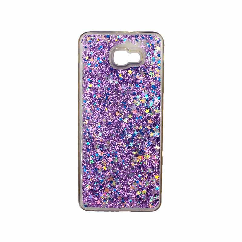 Θήκη Samsung Galaxy J4 Plus Liquid Glitter μωβ 1