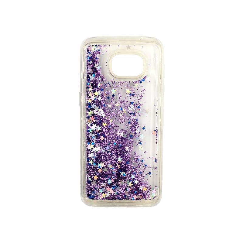 Θήκη Samsung Galaxy S7 Edge Liquid Glitter μωβ 2